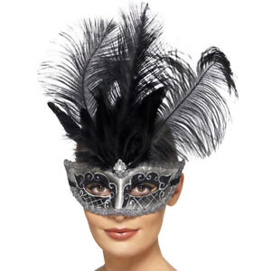 Venetian Masquerade Eyemask Black Silver Masked Ball