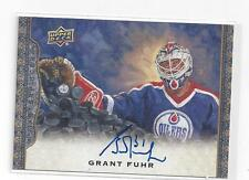 GRANT FUHR AUTOGRAPH CARD FROM UPPER DECK MASTERPIECES HOCKEY  2014-15