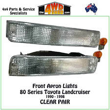 FRONT APRON INDICATOR BLINKER LIGHTS fit TOYOTA LANDCRUISER 80 SERIES CLEAR PAIR
