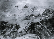 "Eduard Spelterini aerial photo, ""The Pyramids', from a balloon, 1904"