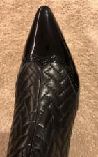 Bally Ankle Boots, Size 8.5 US, Black Lamb Nappa Matelasse, Kitten Heel, Amazing