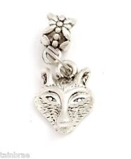 Wolf Head I Wolves Charm Dangle