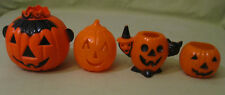 Bundle of Rosen Halloween Plastic Pumpkins-- Bundle of 4