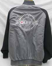 Vintage Polaris ATV Snowmobile Club L.E. Jacket Size Large Men's Gray Black USA