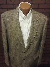 Vintage Harris Tweed Men's Herringbone Sport Coat/Blazer Wool Made In USA