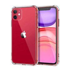 Caso claro para iPhone 11 Pro Max XR Xs Max cubierta suave TPU X Silicona a Prueba De Golpes