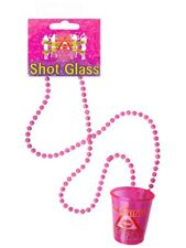 Pink Shot Glasses Hen Night Party With Necklace 84cm