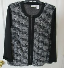 Wm. Alfred Dunner Jacket style Sweater Size 18 pre-owned
