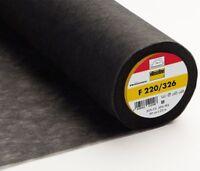 ( 3,90€/ M) 25m Rollos Vlieseline Inserción de Hierro F220 Grafit 90cm Ancho