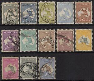 Australia - 3rd wmk kangaroo selection to £1 brown and blue - used
