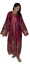 Moroccan Womens Caftan Takchita Handmade Dress With Embroidery Kaftan Burgundy