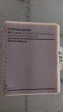 Concord hpl-516 e service manual original repair book car radio stereo tape deck