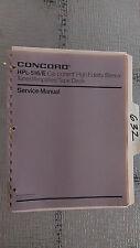 Concord hpl-516 e service manual original repair book car radio stereo tape deck