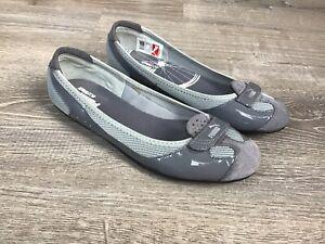 Puma Zandy Ballet Flats Slip-On Shoes Gray Mesh  352851 06 Size 8 US Ortholite