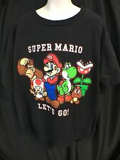 NINTENDO SUPER MARIO SHORT SLEEVE  S BLACK T-SHIRT Child Small Rare