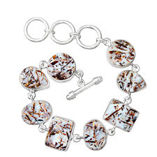 "Halloween Sale Astrophyllite Bracelet ! 925 Silver Astrophyllite Jewelry - 8.5"""