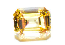 0.64ct Yellow Diamond - Natural Loose Fancy Yellow GIA Emerald Cut VS1