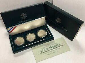 1994-W $1 Veterans Commemorative Set of Three Silver Dollars in OGP BU