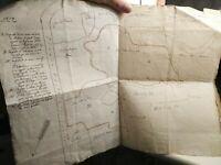 1829 126) MAPPA CATASTALE MANOSCRITTA BOSCHI DI GAVIRATE TRA BREBBIA E TRAVEDONA