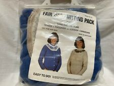 Fair Isle sweater knitting kit Finished yoke provided Scotland Wool Size 34-42