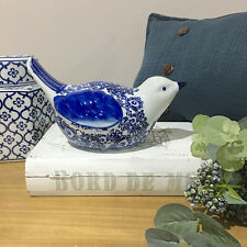 Blue & White Ceramic Bird/Shelf Ornament/Kitchen/French Provincial/Hampton's