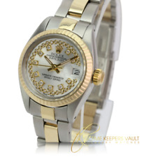 Rolex Watch Women's Datejust Gold and Steel Silver String  Diamond 26mm