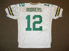 Aaron Rodgers Green Bay Packers White Authentic Jersey by Reebok sz 50 New Mens