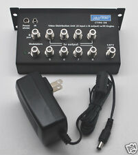 DISTRIBUTION AMPLIFIER AUDIO VIDEO CTIRE-38 8 OUTPUT W/POWER SUPPLY
