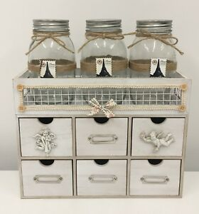 Dorset - Shabby Chic Creative 6 Drawers Table Top Storage Solution Organiser