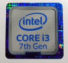 10 x Intel Core i3 7th Gen blue18mm x18mm Metallic Stickers 7 vinyl xp 8 Windows
