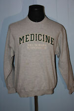 Oarsman Des Moines University Medicine Script Gray Crewneck Sweatshirt L