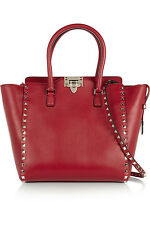 100% AUTHENTIC NEW VALENTINO RED ROCKSTUD MEDIUM TRAPEZE BAG/HANDBAG