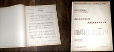 1er recueil de 5 chansons bressannes partition piano chant harmonisat. Darcieux