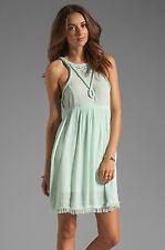 NEW Somedays Dreamlover Mint Small S Sleeveless Fringe Hem Dress $105