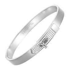 Esprit Damen Armreif Armband Edelstahl Silber Kristall Strass ESBA11178A600