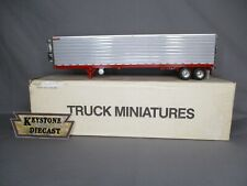 Truck Miniatures 48 ft Great Dane Reefer Trailer Tandem Axle Silver & Red  USED