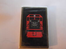 FABULOUS New ROCK ISLAND Railroad PLAYING CARDS Unopened Cellophane BLACK PACK