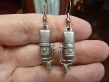 (M-6-D) Neuman NEUMANN TLM 170 Microphone pewter dangle earrings I love mics