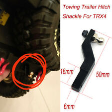 Black CNC Towing Trailer Hitch Shackle For TRX4 TRAXXAS TRX-4 1/10 RC Crawler