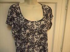Brittany Black Xl White Polyester Top Black Designs Silver Sparkles