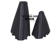 For Bmw 5 E60 E61 03-06 Automatic Gear & Handbrake Gaiter Leather M3 /// Stitch