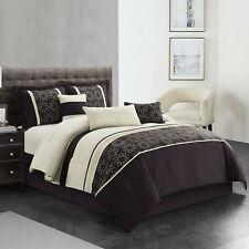 7-Piece Bedding Bed in Bag Microfiber Luxury Comforter Set Soft King Denette Us