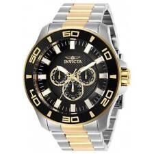 Invicta Men's Watch Pro Diver Chronograph Black Dial Two Tone Bracelet 27984