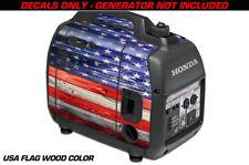 Decal Wrap For Honda EU2000i Skin Camping Generator Engine Sticker USA FLAG WOOD