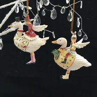 Fairy Boy Or Girl Riding On A Goose Gisela Graham Christmas Tree Decoration