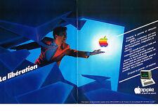 PUBLICITE ADVERTISING 054  1982  APPLE  informatique ordinateur  ( 2 pages)