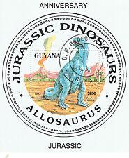 (21591) Guyana - Dinosaurs Allosaurus 1993 Minisheet - fine used