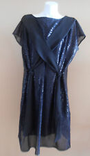VINTAGE HARAH DESIGNS SEQUINS GREAT GATSBY BATWING DOLM DRESS DOLMAN KNEE LENGTH