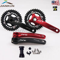 Bicycle Crankset 10 Speed 104BCD 26/38T Chainset Double Chainring 170mm Crank BB