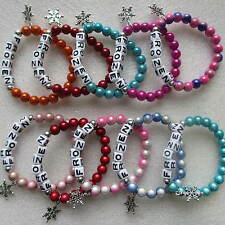Wholesale 15 Disney Frozen Princess Bracelets With Snowflake Charms Present